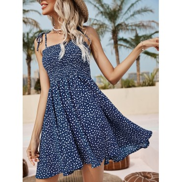 Heart Confetti Knotted Cami Dress